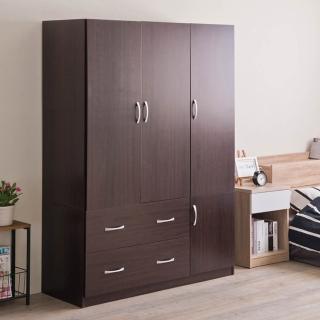 【TZUMii】雅緻四門二抽衣櫥-雙色可選(衣櫃)