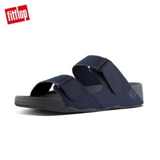 【FitFlop】雙12限定-GOGH MOC ADJUSTABLE SLIDE SANDALS IN NEOPRENE 可調整式涼鞋-男(2色)