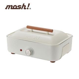 【日本 mosh!】多功能電烤盤 M-HP1 IV 白(電烤盤)