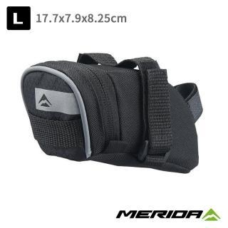 【MERIDA 美利達】自行車座墊包 黑/灰 L號(車包/坐墊/包袋/收納/置物/環島/單車)