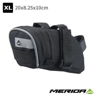 【MERIDA 美利達】自行車座墊包 黑/灰 XL號(車包/坐墊/包袋/收納/置物/環島/單車)