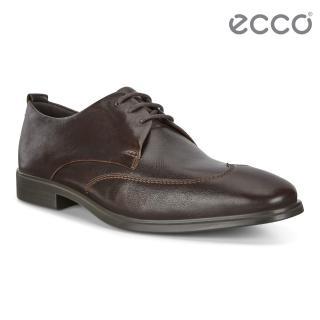 【ecco】MELBOURNE 氣質型男商務正裝德比鞋 男鞋(棕色 62178401053)