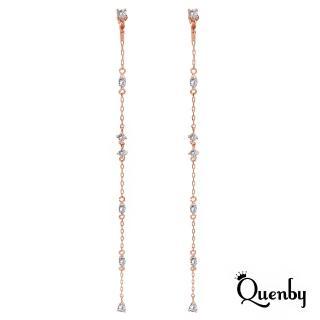 【Quenby】金秘書朴敏英同款超長細緻無耳洞耳夾/長耳環-玫瑰金(飾品/配件)