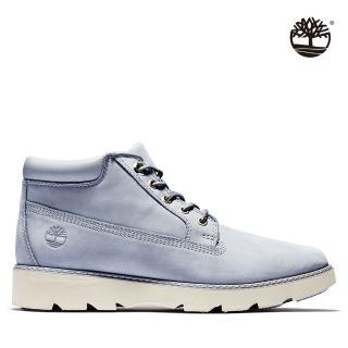 【Timberland】女款中灰藍磨砂革休閒短筒靴(A1YF8050)
