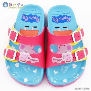 【童鞋城堡】佩佩豬 雙排扣軟木拖鞋 粉紅豬小妹(PG0084-桃)
