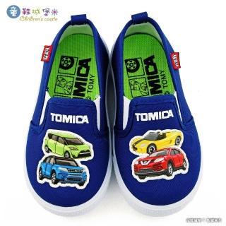 【童鞋城堡】小車車室內外休閒鞋 TOMICA多美車(TM7727-藍)