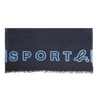 【agnes b.】Sport b. 薄圍巾(女/藍)