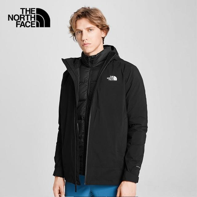 【The North Face】The North Face北面男款黑色防水透氣三合一外套|4N9TKX7