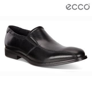 【ecco】MELBOURNE 紳士商務正裝樂福鞋 男鞋(黑 62165401001)