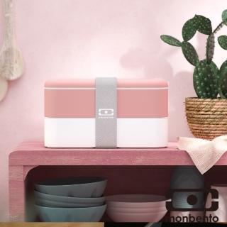 【MONBENTO】雙層餐盒-粉紅火烈鳥(MB-11010022)