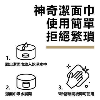 【THE BASIC 本值】男士保養 壓縮潔面巾