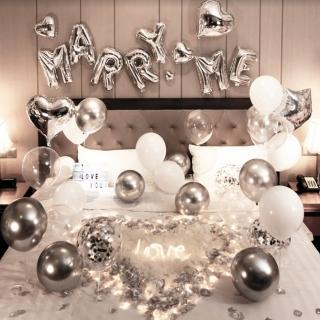 【生活King】奢華驚喜求婚氣球套餐(求婚氣球/派對氣球/告白氣球)