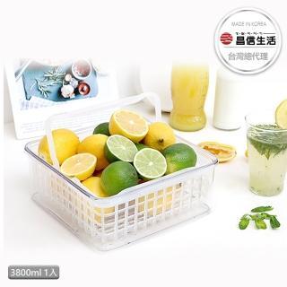 【韓國昌信生活】SKYLOCK密扣提籃式1號保鮮盒(3800ml)