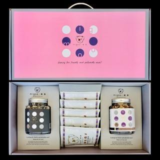 【migoo 彌果】幸福禮盒A(杏仁小魚+綜合堅果+頂級隨手包5包)