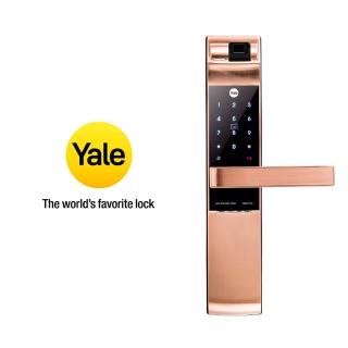 【Yale 耶魯】2020最新 YDM-7116A系列 熱感應觸控/指紋/卡片/密碼電子鎖 玫瑰金(台灣總代理/附基本安裝)