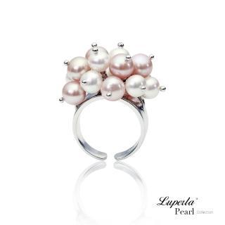 【大東山珠寶】Danza 蝶舞純銀天然淡水珍珠戒指(時尚淡水珍珠)