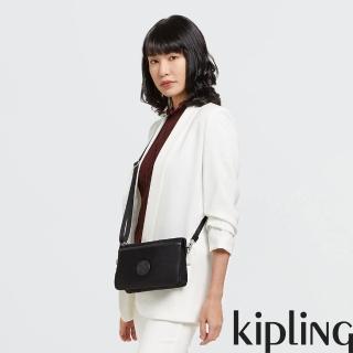 【KIPLING】低調沉穩黑單肩隨身斜背包-RIRI