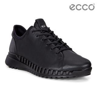 【ecco】ZIPFLEX W 酷飛運動單色戶外休閒鞋 女鞋(黑色 80376301001)