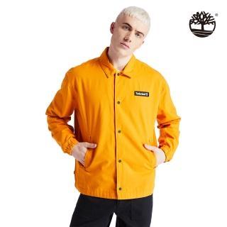 【Timberland】男款深起士黃品牌標籤棉質工裝外套(A2CCJ804)