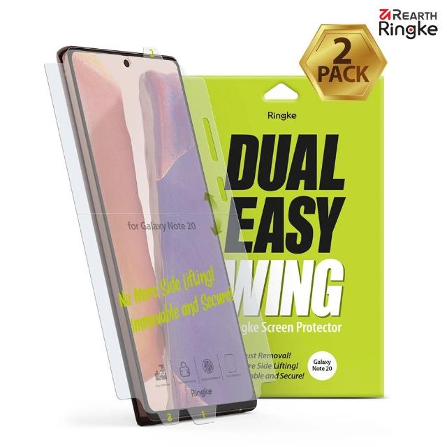 【Ringke】Rearth 三星 Galaxy Note20 / Ultra [Dual Easy Wing] 螢幕保護貼-二入(Note20系列 螢幕保護貼)