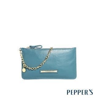 【PEPPER'S】Olivia 羊皮手機包(土耳其藍)