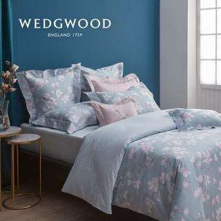 【WEDGWOOD】300織長纖棉印花鬆緊床包-木蘭芳菲(雙人)