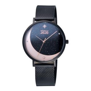 【NATURALLY JOJO】星辰照耀時尚腕錶-黑(JO96977-88F)