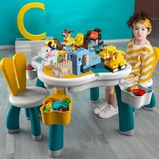 【積木城】萌萌兔兒童學習積木玩具多功能桌(兒童家具)