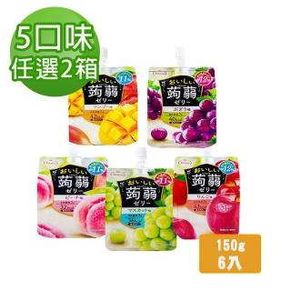 【Tarami】吸果凍150gx6入 任選2箱組(水蜜桃/葡萄/白葡萄/蘋果/芒果)