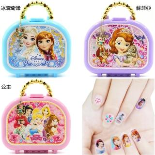 【TDL】冰雪奇緣迪士尼公主蘇菲亞兒童指甲貼紙玩具組附收納盒 3612622