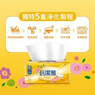 【倍潔雅】花漾柔感抽取式衛生紙(150抽84包/箱)