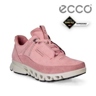 【ecco】MULTI-VENT W 全方位城市戶外防水運動休閒鞋 女鞋(大馬士革粉 88012301477)