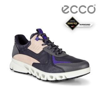 【ecco】MULTI-VENT W 全方位城市戶外防水運動休閒鞋 女鞋(午夜藍/裸色 88022351903)