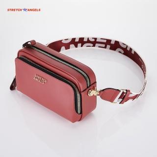 【STRETCH ANGELS】深玫瑰色帕尼尼包 相機包 金屬標Logo(SUMR01911-DR)