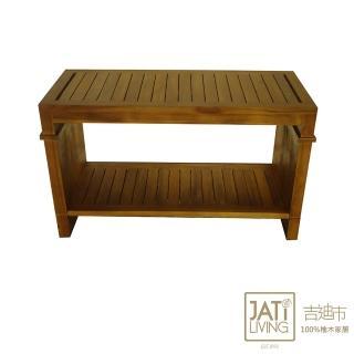 【吉迪市柚木家具】柚木行李箱書櫃 RPOT014(開放層架 穿鞋椅 置物架 民宿)