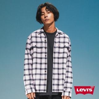 【LEVIS】男款 格紋襯衫 / 滑板系列 / 寬鬆休閒版型 / 香芋紫-人氣新品
