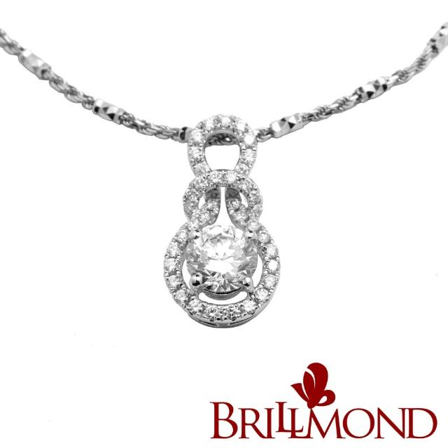 【BRILLMOND JEWELRY】深情相擁GIA一克拉鑽墜(GIA D/VS2 3EX NONE)