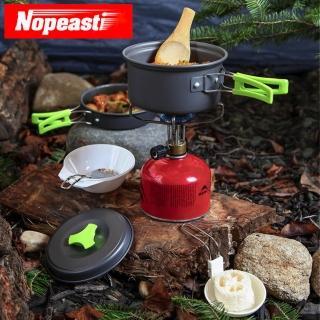 【Nopeasti 諾比】戶外登山露營野炊輕便型不沾鍋鍋具組