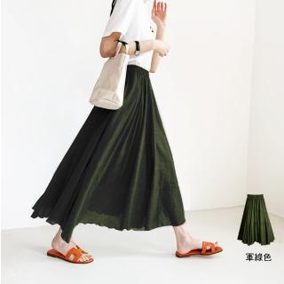 【Amore】日韓輕柔棉麻舒適氣質長裙(氣質百搭輕飄長裙)