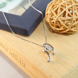 【微笑安安】銀亮音符925純銀精鑲鋯石項鍊