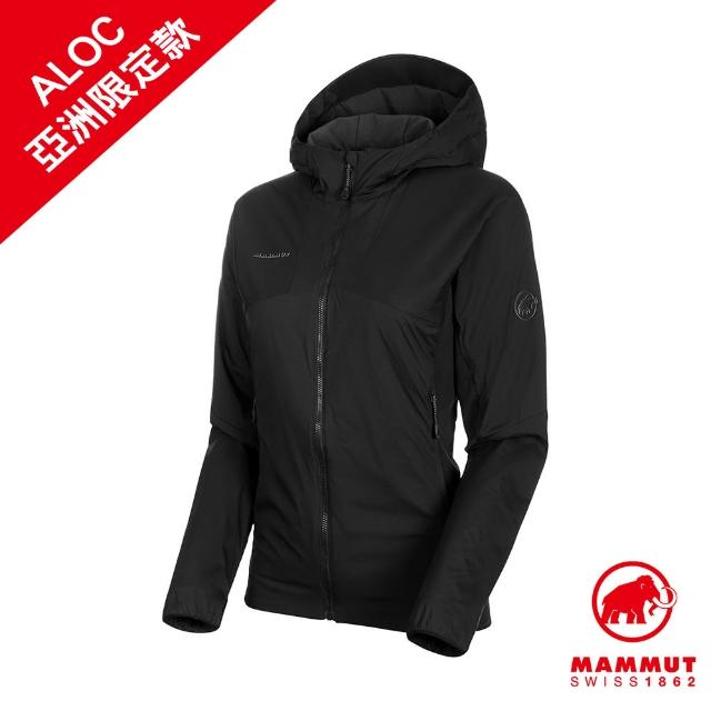 【Mammut 長毛象】Rime Light IN Flex Hooded Jacket AF Women 保暖連帽化纖外套 黑色 女款 #1013-01310