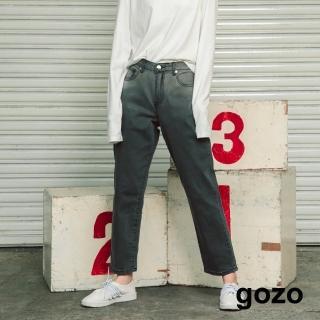 【gozo】顯瘦漸層刷色直筒牛仔褲(兩色)