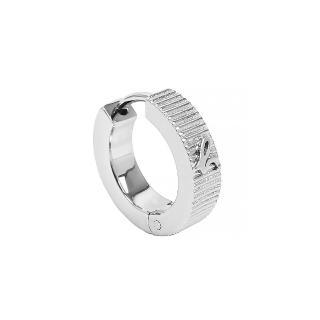 【agnes b.】b logo單耳耳環(銀色/針式)