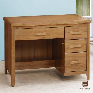 【Hampton 漢汀堡】列蒂西雅柚木3.5尺書桌(一般地區免運費/書桌/桌子)