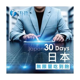 【TEL25】日本網卡上網卡 30日  4G上網 吃到飽上網SIM卡(不限流量 插卡即用)