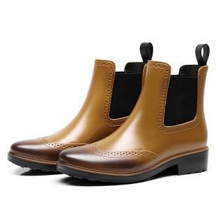 【LN】現貨 布洛克風雕花暈染雨靴(雨鞋/雨靴)