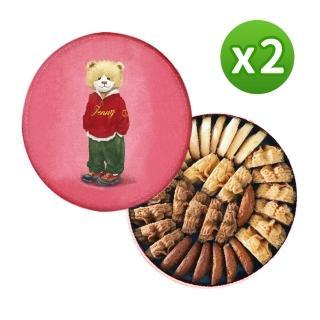 【香港正版直送】Jenny Bakery珍妮小熊四味綜合曲奇餅320g 2入組
