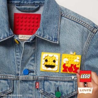【LEVIS】X LEGO 男款 古著牛仔外套 / 寬鬆休閒版型 / 樂高積木通用軟墊 / 附限定版積木