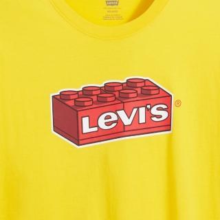 【LEVIS】X LEGO 男女同款 短袖T恤 / 經典樂高積木Logo / 寬鬆休閒版型 / 樂高黃-熱銷單品