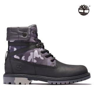 【Timberland】女款黑色全粒面地球守護者經典6吋靴(A2J3M015)